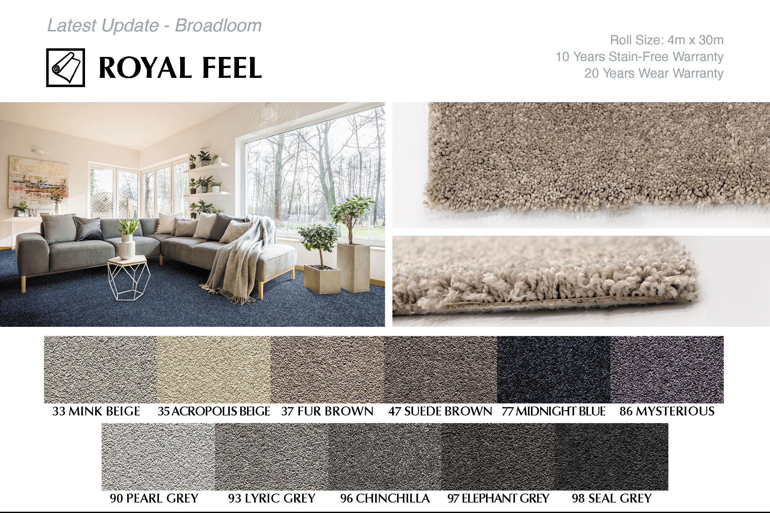 New Broadloom Carpet ROYAL FEEL in 2020 Modern rugs