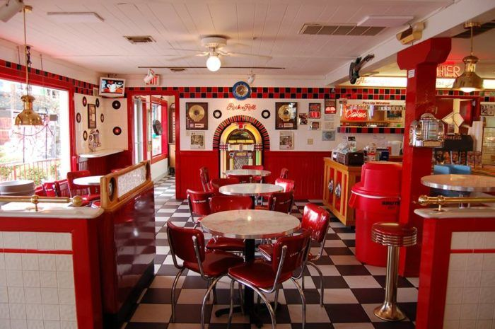 One of the main reasons you'll want to stop into Cakes 'n Creams is for the amazing retro decor. You'll feel like you stepped into a '50s teen movie the moment you walk through the door.