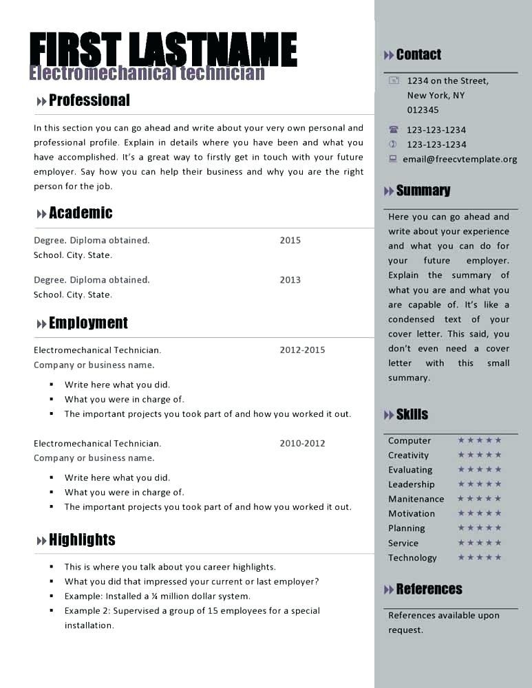 cool print out a cv template collection