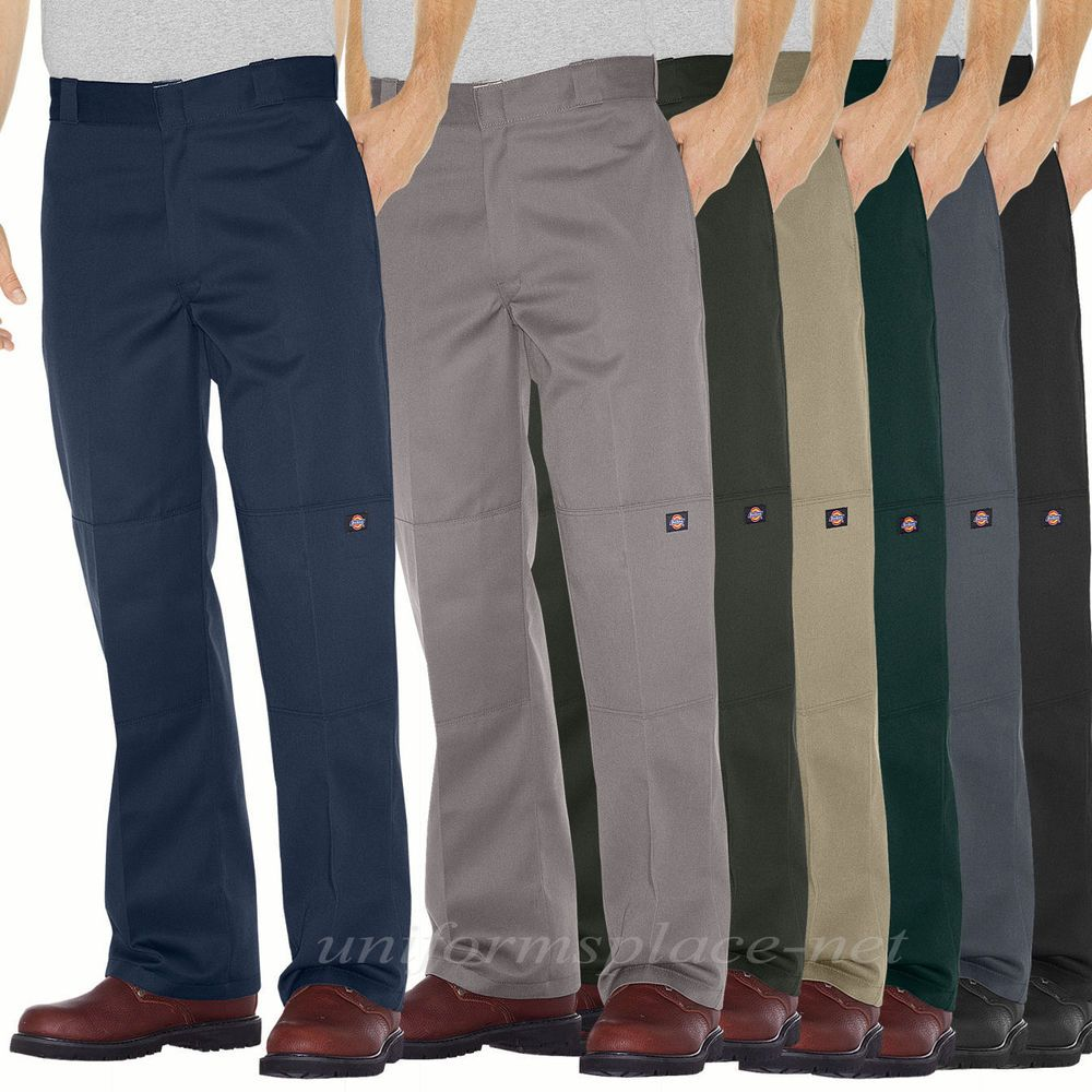 Details about Men Dickies Work Pants Loose Fit Double Knee Cell ...