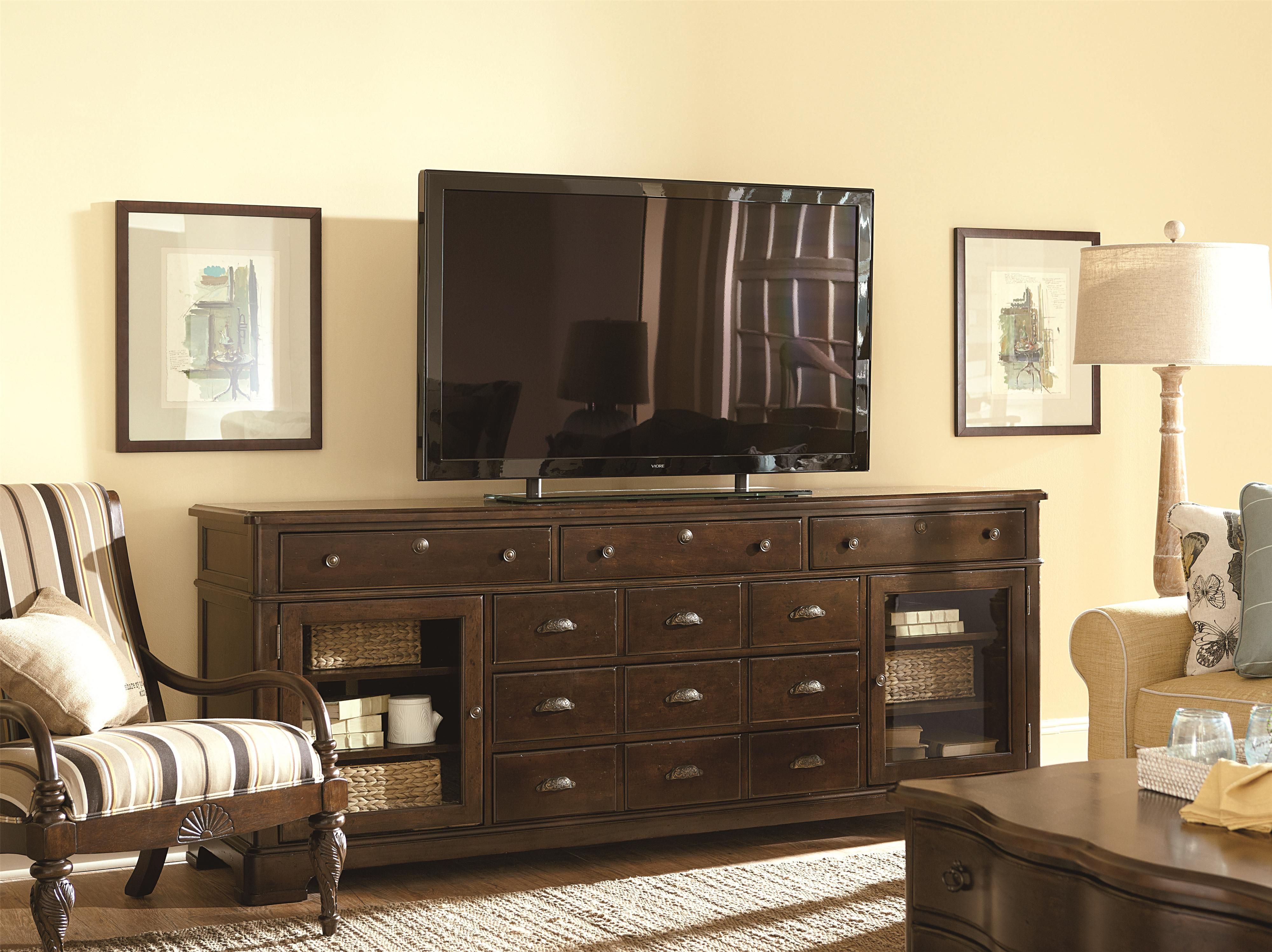 Tv Stand Media Center Paula Deen By Universal River House 6 Drawer