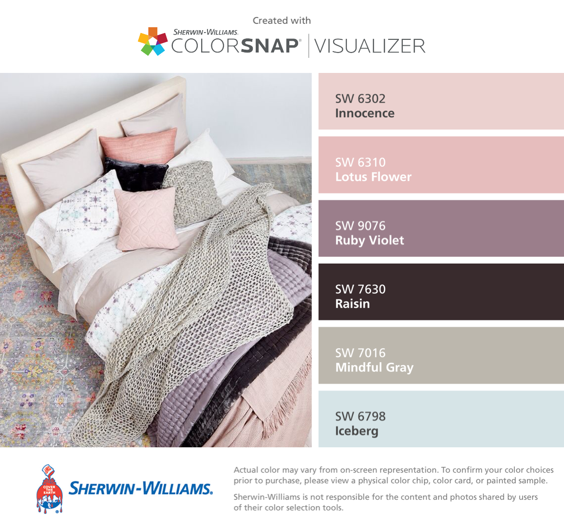 I found these colors with colorsnap visualizer for iphone by i found these colors with colorsnap visualizer for iphone by sherwin williams innocence sw 6302 lotus flower sw 6310 ruby violet sw 9076 izmirmasajfo