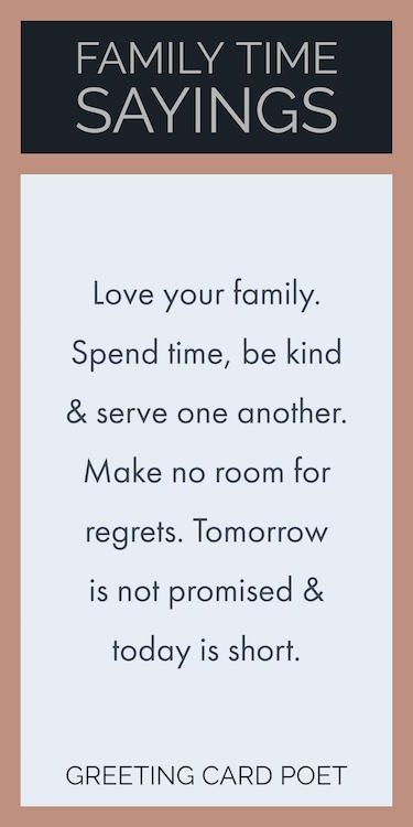 family time quotes and sayings