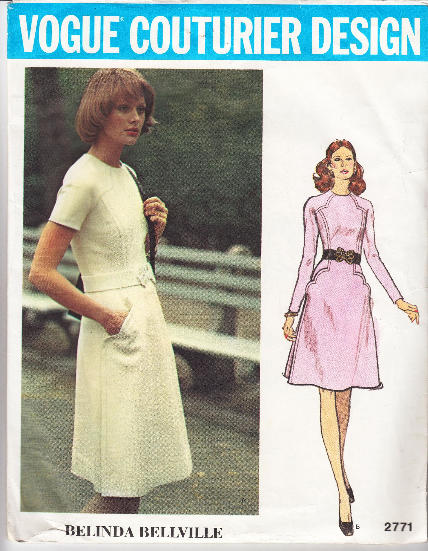 Vintage sewing pattern ladies dress 1970s vogue 2771 sewing vintage sewing pattern ladies dress 1970s vogue 2771 jeuxipadfo Choice Image