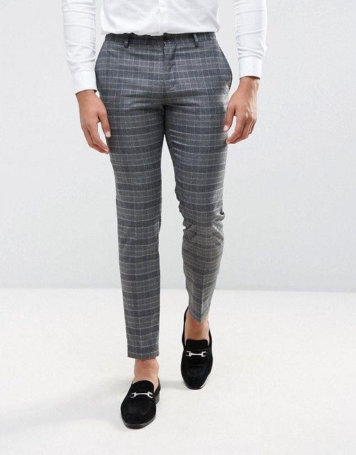 b41f5243df505 Jack & Jones Premium - Pantalon de costume slim de mariage à carreaux