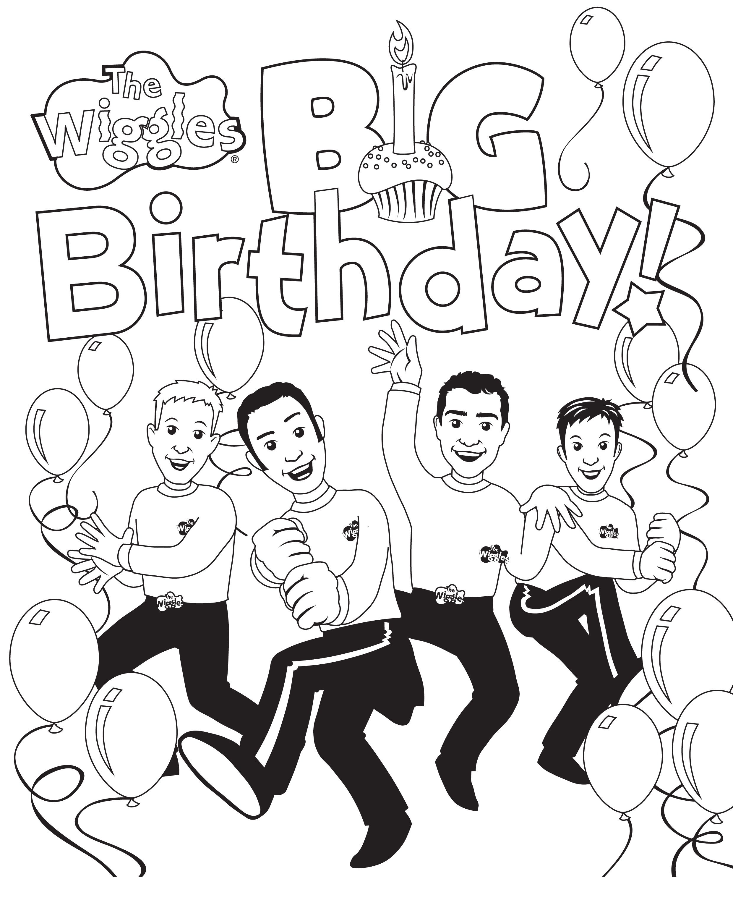 Free Printable Wiggles Coloring Pages Jpg 2 480 3 044 Pixels Wiggles Birthday Wiggles Party Birthday Themes For Boys
