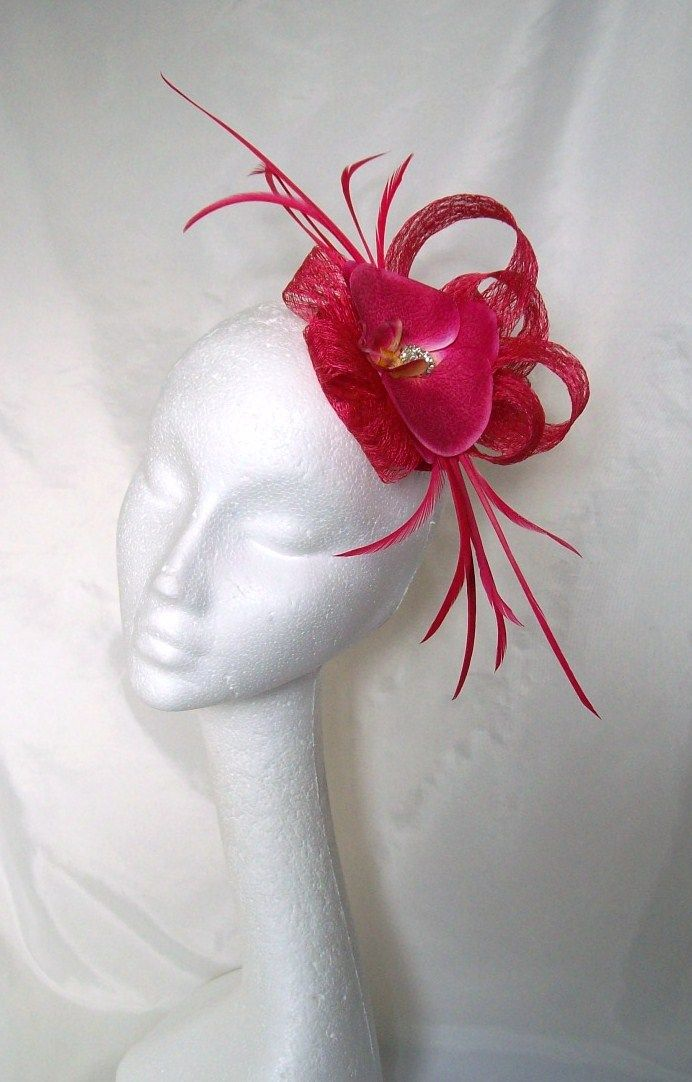 Cerise Pink Orchid Ava Fascinator Order Now From Www Indiaisyweddings Co Uk
