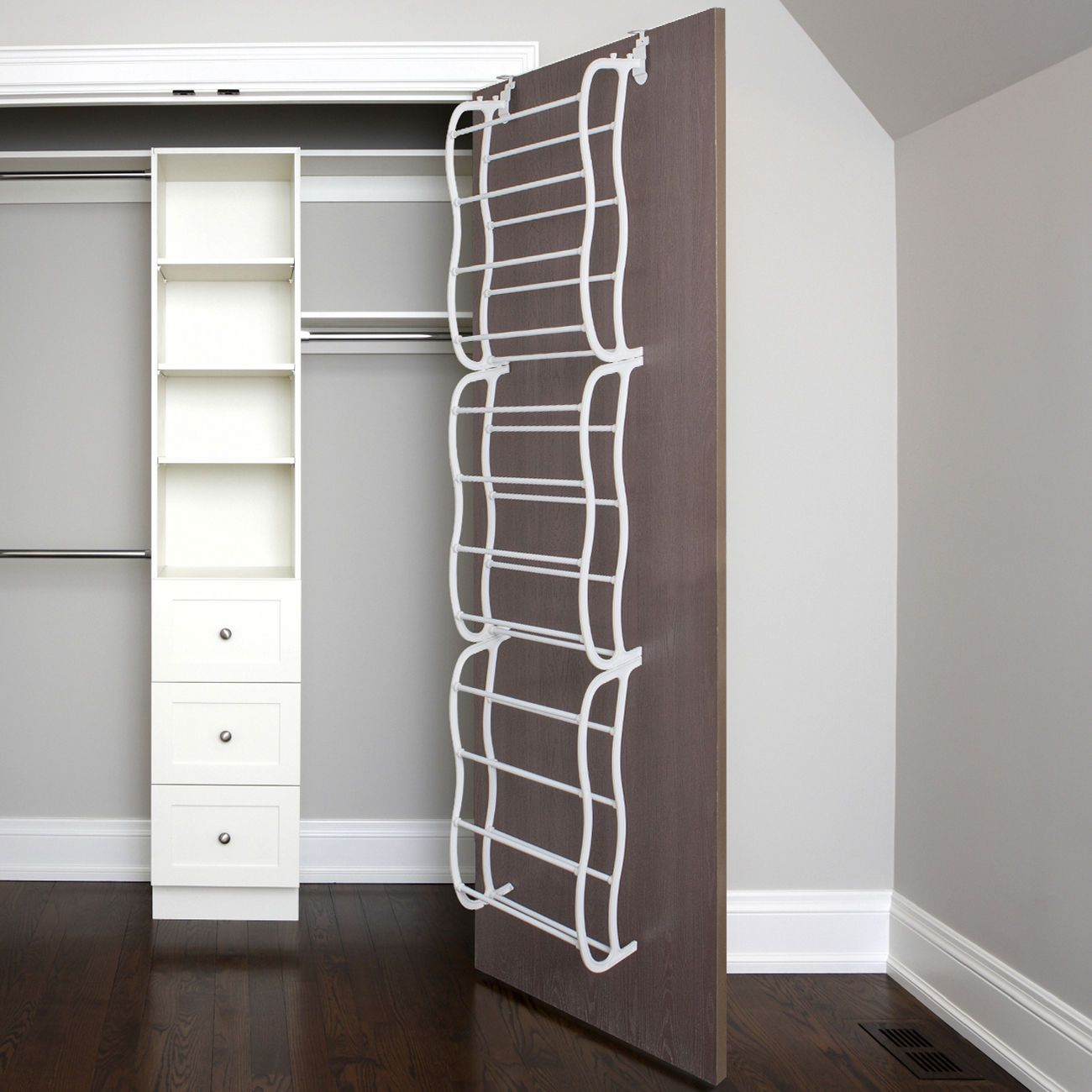 The Oxgord Over Door Shoe Rack Makes It Easy To Free Your Closet And Storage
