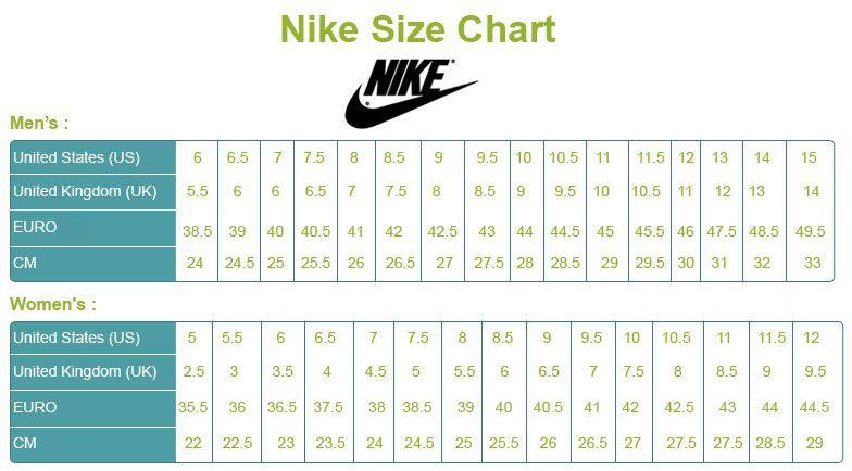 ป กพ นโดย My Shoe Spot ใน Shoe Size Chart Brands