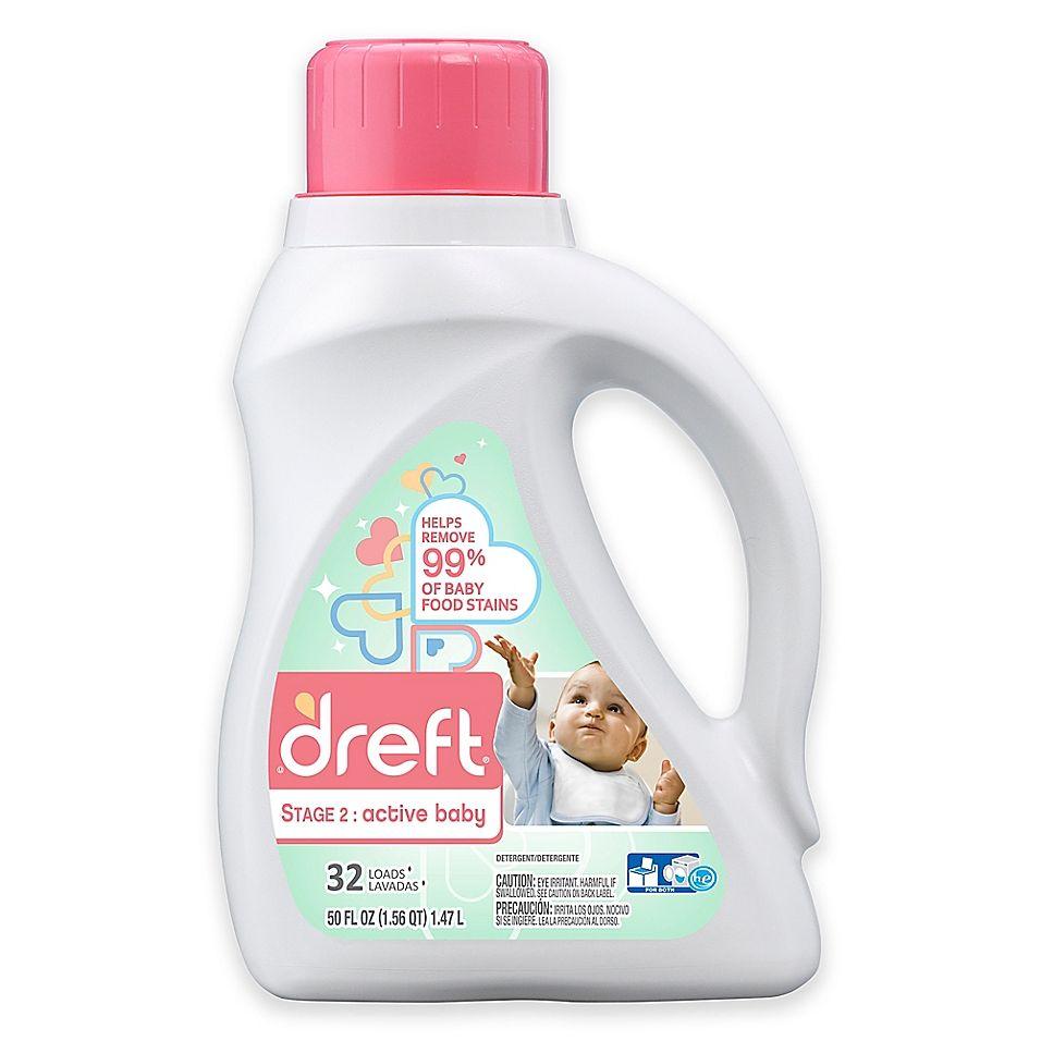 Dreft Stage 2 Active Baby 50 Oz Hec Liquid Detergent Clear
