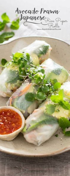 Japanese rice paper rolls recipes pinterest japanese rice japanese rice paper rolls forumfinder Images