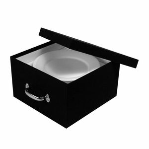 Euro Dinner Plate China Storage Case, Black Booklinen Cover | The  Organizing Store