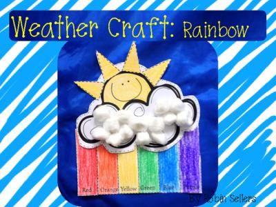 weather craft rainbow pinterest weather crafts