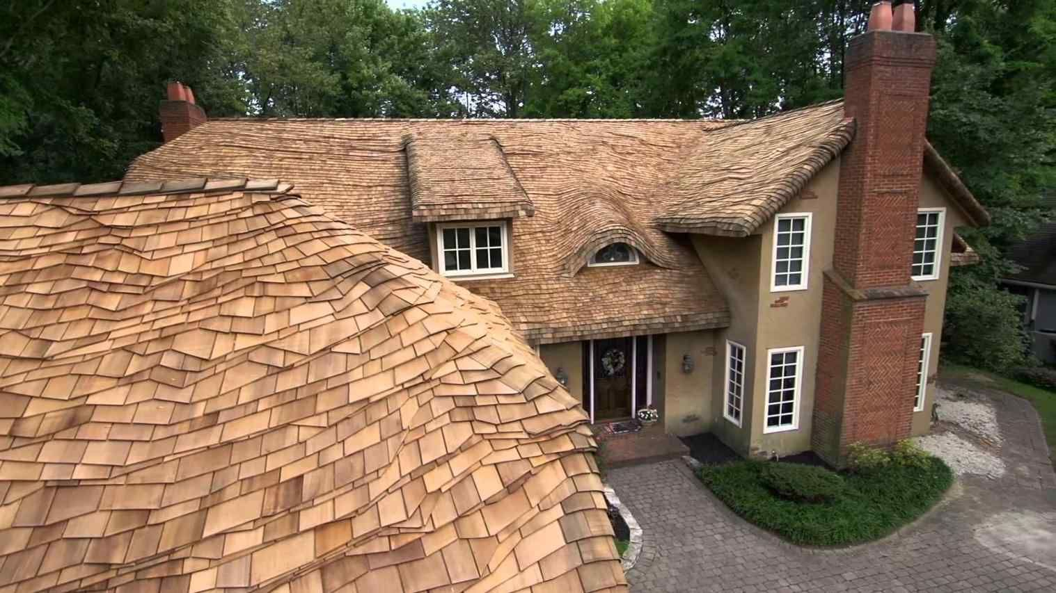 Best Rounded Roof Shingles Cedar Roof Residential Metal 400 x 300
