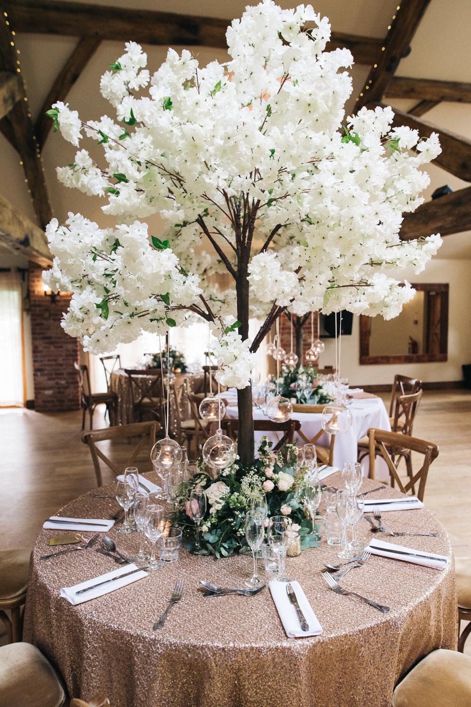 White Cherry Blossom Tree Tree Wedding Centerpieces Tree Centrepiece Wedding Wedding Centerpieces