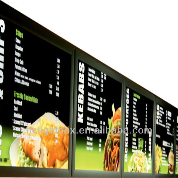 New Led Menu Board/menu Light Box/restaurant Light Box