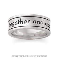God Be With Us Together And Apart James Avery Mens Wedding Band