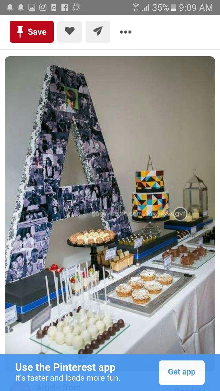 letter for table ashish birthday party pinterest birthdays