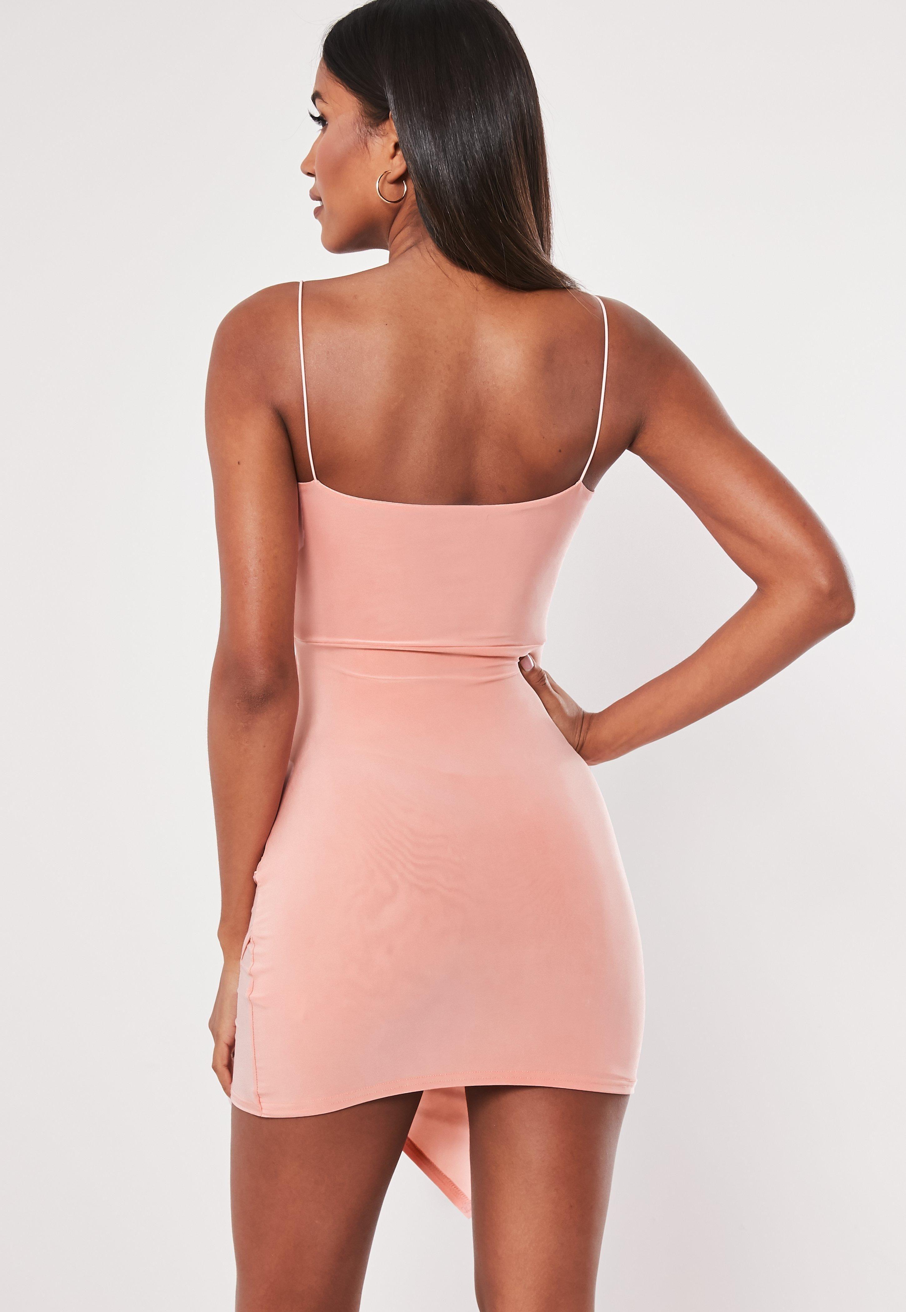 Blush Strappy Slinky Wrap Bodycon Mini Dress Sponsored Slinky Sponsored Strappy Blush Trending Dresses Mini Dress How To Look Skinnier [ 4200 x 2900 Pixel ]