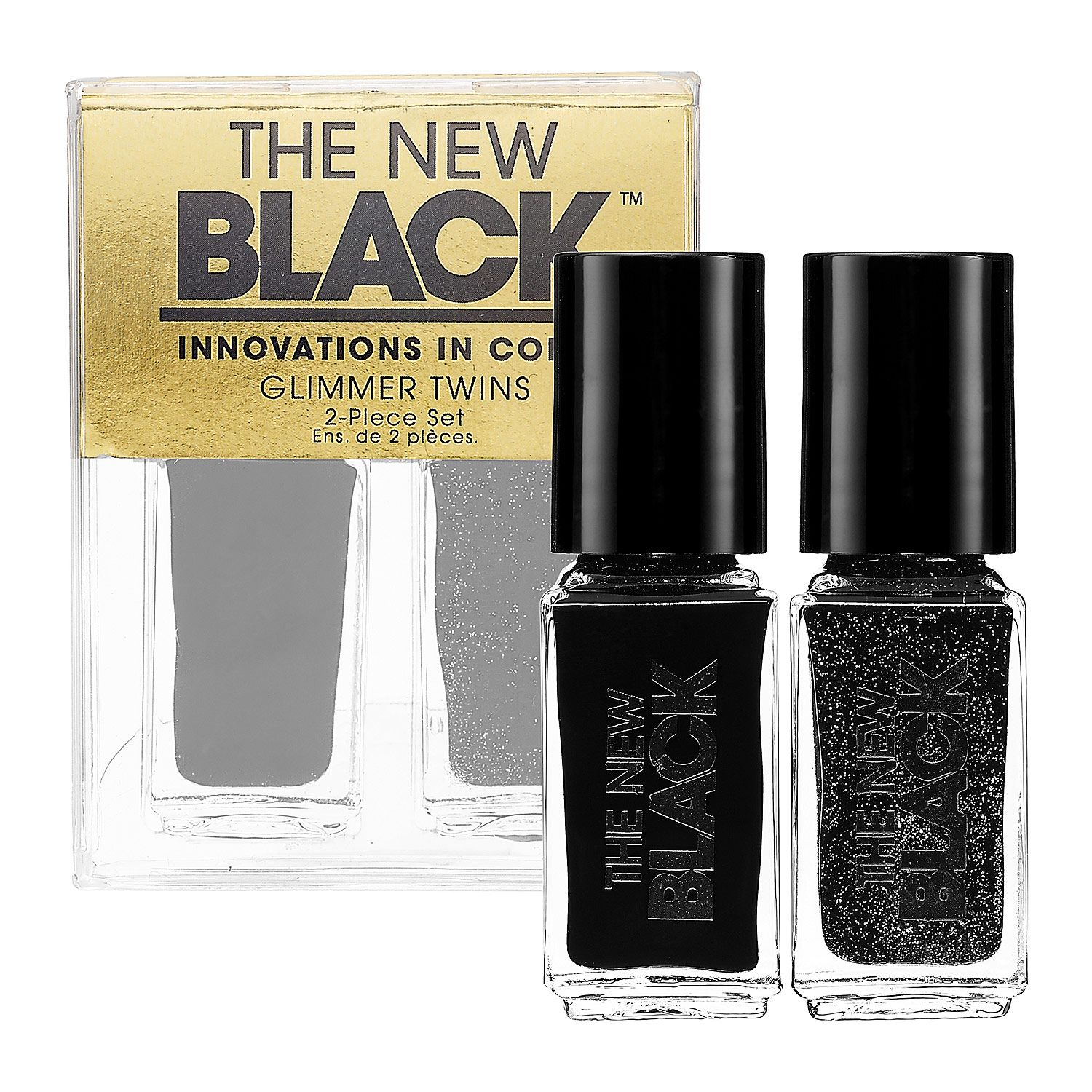 The New Black Glimmer Twins 2-Piece Nail Polish Set. #sephora ...