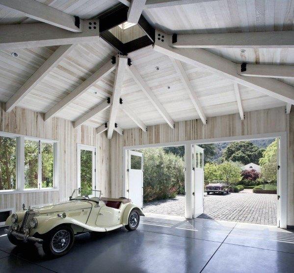 Top 40 Best Garage Ceiling Ideas Automotive Space Interior Designs Garage Design Garage Interior Space Interiors