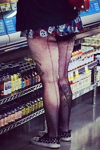 9ce30d6d7fa80 Ripped Fishnet Stockings and Underpants - Stay Classy People of Walmart -  Fail - Funny Pictures at Walmart