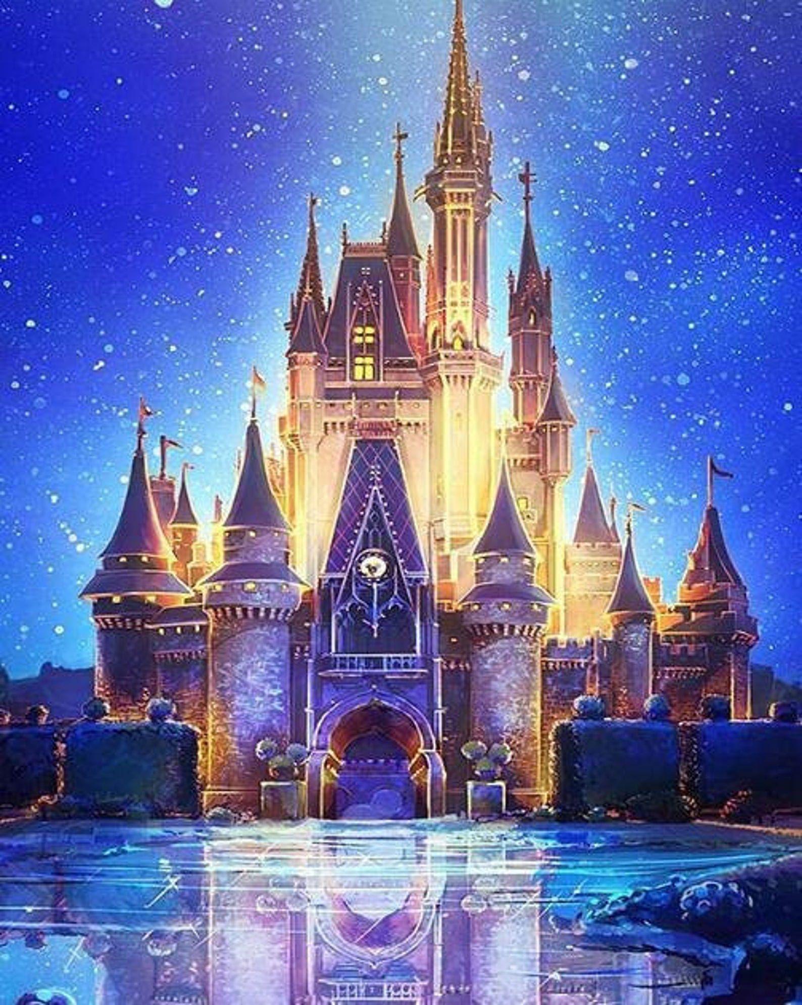 Disney Scenery 5D DIY Diamond Painting Kit House Full Drill Stick To Paint Home Decor Cross-stitch Mosaic Art Painting Christmas Gifts