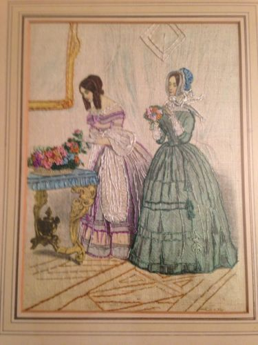 antique needlework in Antique Embroidered Linens | eBay
