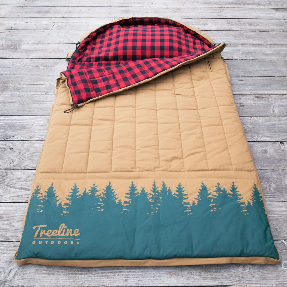 The Simple Man 2 Person Canvas Sleeping Bag Camping Gear Treeline Outdoors 1 400 00