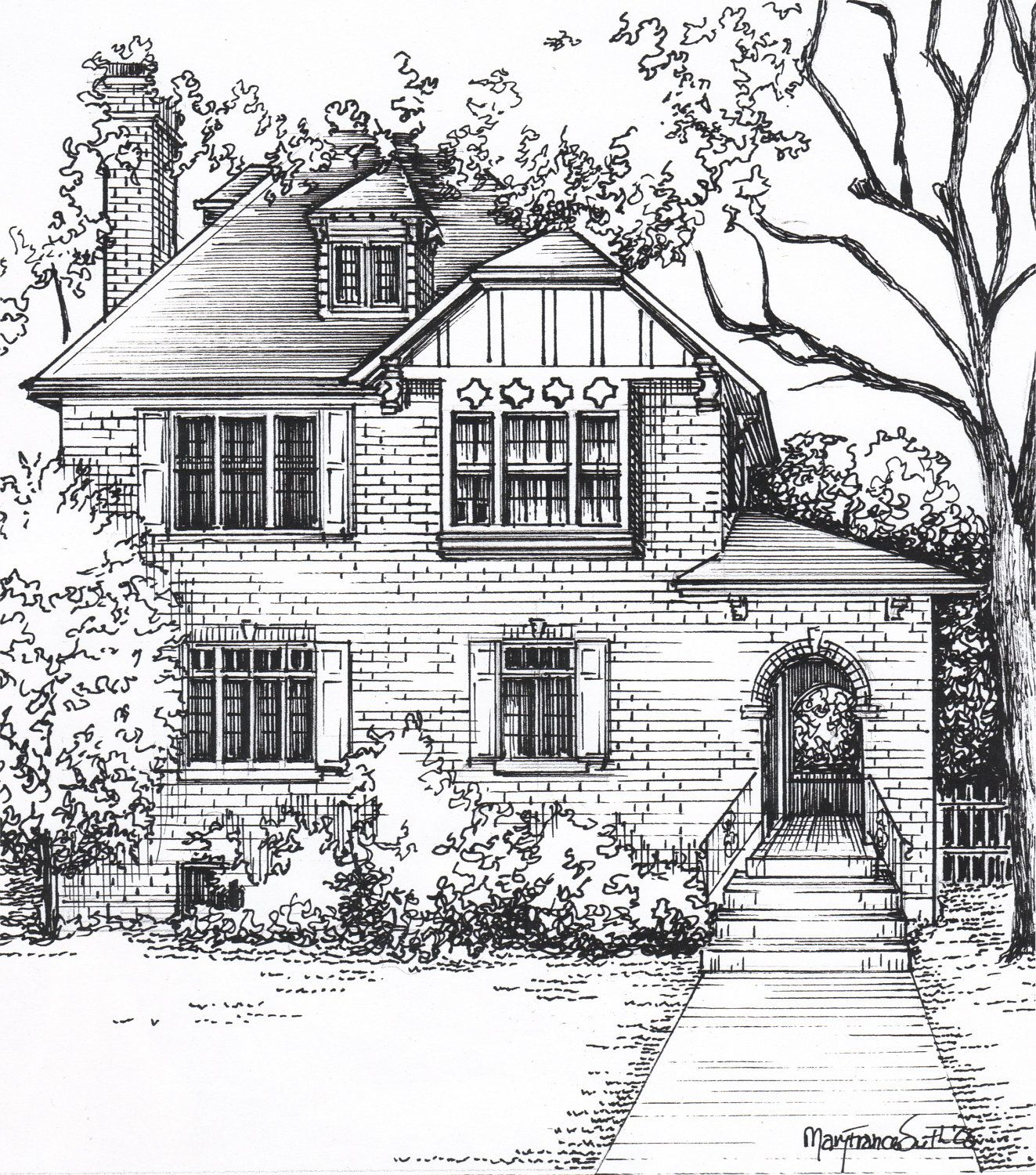 Looking For A Unique Gift? Do You Know Of Someone Who Would Love A Hand  Drawn Custom Portrait Of Their House, Creating A Personal Piece Of