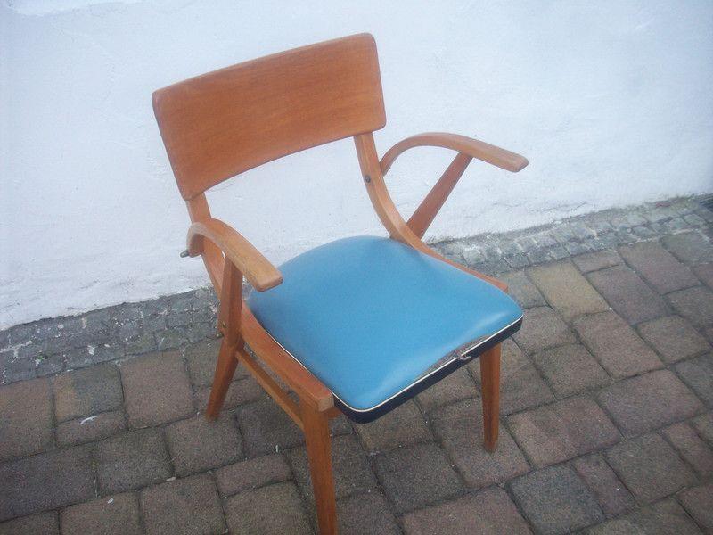 Vintage Stühle - Stuhl Retro 50er Jahre mit Armlehne - ein ...