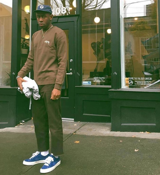 Tyler the Creator previews Blue Golf Le Fleur x Converse One Star    streetwear e20744a07
