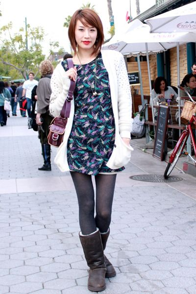 Ugg boots - f21 dress - Marc Jacobs bag - Dolce Vita from Zzoitcom cardigan - Zz