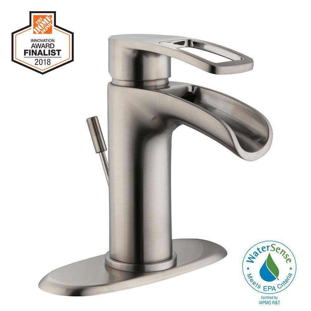 Glacier Bay Warnick Single Hole Single Handle Bathroom Faucet In