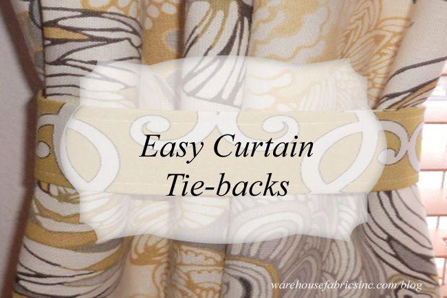 Easy Curtain Tie Backs Curtain Tie Backs Simple Curtains