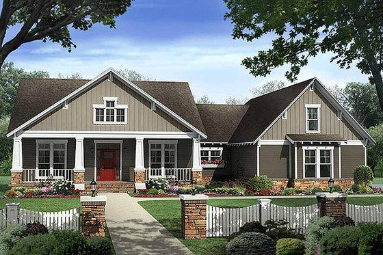 Craftsman Style House Plan 4 Beds 2 5 Baths 2400 Sq Ft Plan 21 295 With Images Bungalow Style House Plans Craftsman Style House Plans Craftsman House Plans