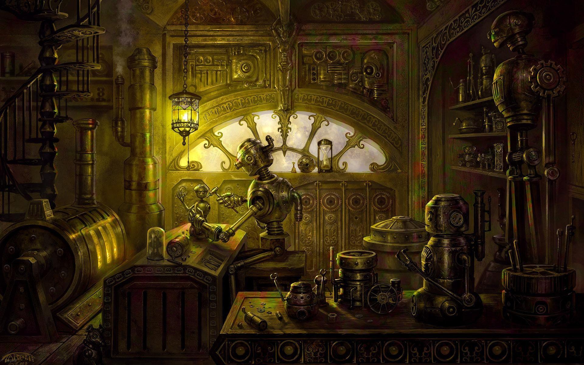 Steampunk Workshop Steampunk Wallpaper Steampunk Artwork