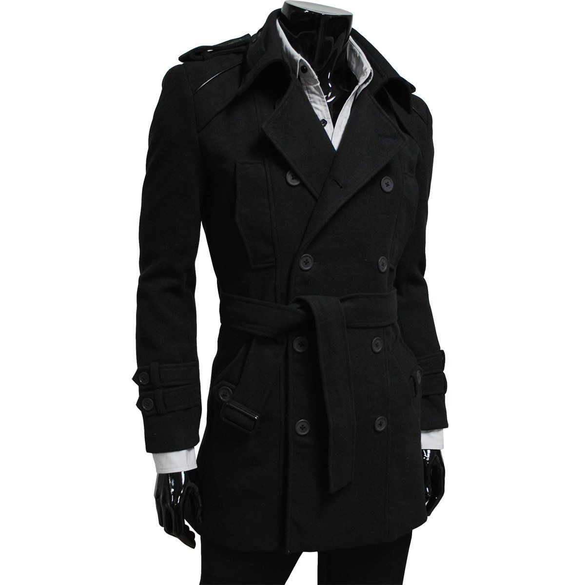 Black trench coat, trench coats for men, leather trench coat ...