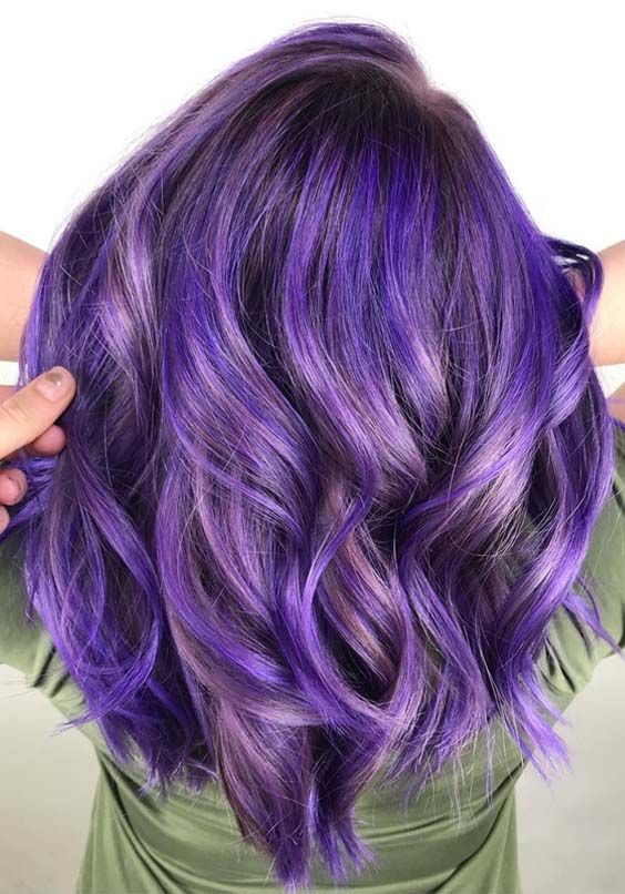 42 Gorgeous Shades Of Purple Hair Colors In 2018 Hair Coloring