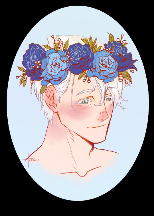 Boys + Flowers - victuuri + flower crowns  (˶◕‿◕˶✿)   instagram
