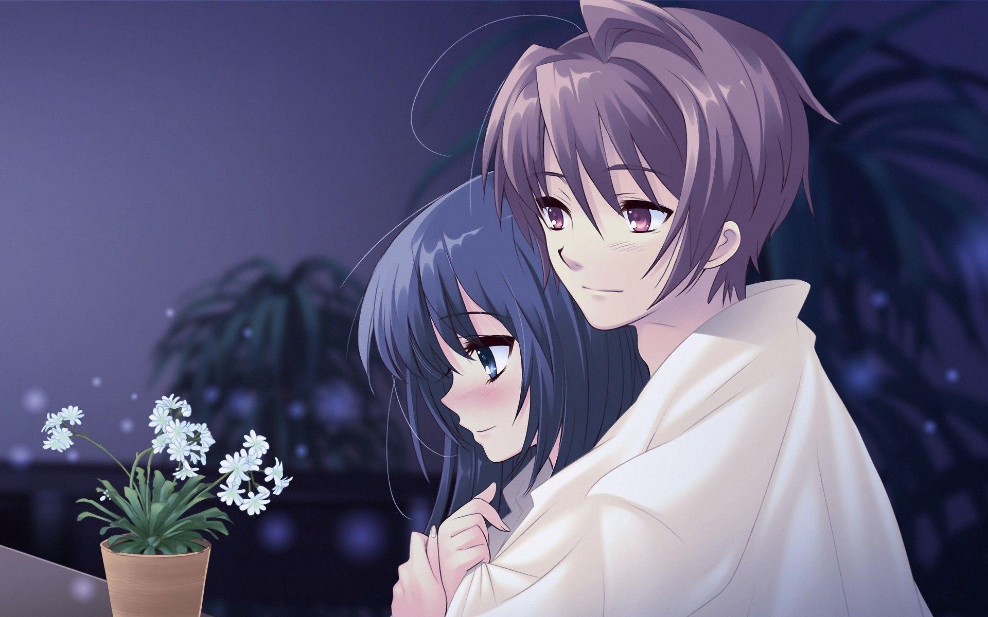 Cute Anime Couple Love Wallpaper 1920x1200 Anime love