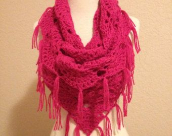 Crochet cowl scarf by Whispys on Etsy