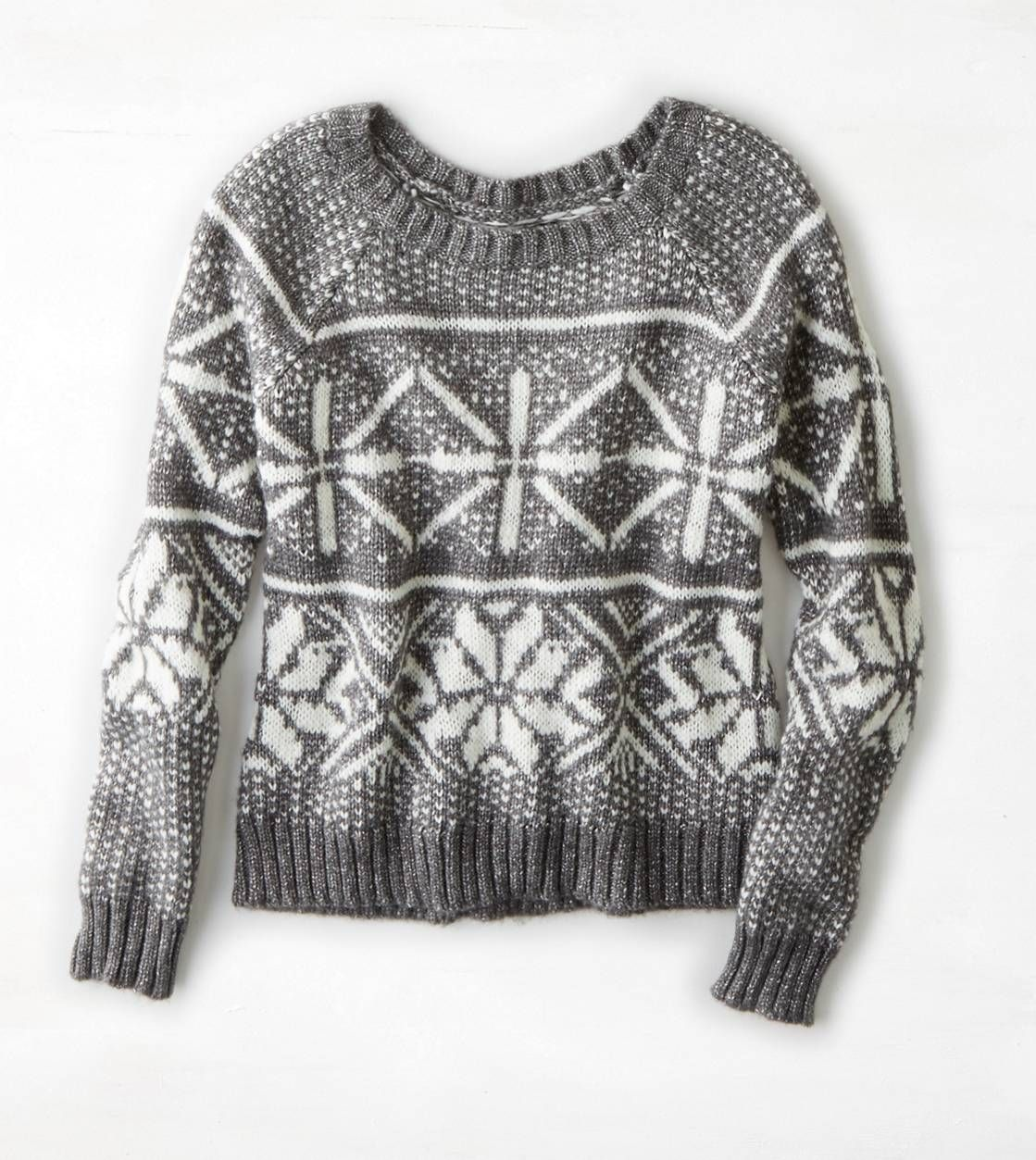 AEO Shimmery Fair Isle Sweater Size:M ONLINE ONLY | Style ...