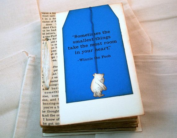 Handmade Winnie The Pooh Baby Shower Guest Book ( Inside You Write Wishes  For The Baby