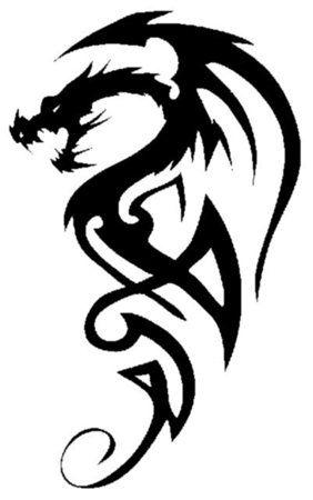 Tribal Creatures Temporary Tattoo Stencil