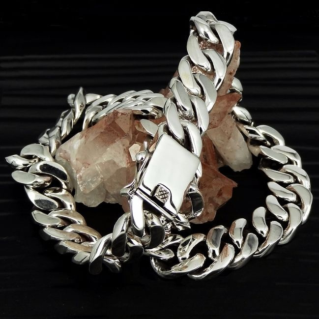 "11+OZ STERLING SILVER - MASSIVE CURB LINK CHAIN NECKLACE - 17+MM - 22"" - HEAVY~ #DragonSoul #Chain"