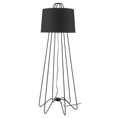 Light Matte Black Floor Lamp