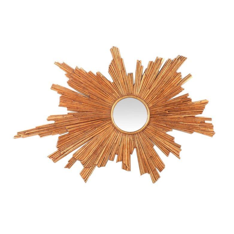 Mid-Century Modern Style Gilt Composition Wood Sunburst ...