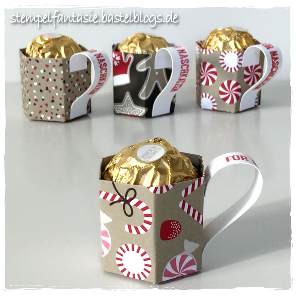 Stampin Up Christmas Onstage Swaps Duesseldorf Mini Tassen Taeschen  Zuckerstangenzauber Weihnachten Herbst Winter 2016 Anleitung Tutorial  Stempelfantasie 4