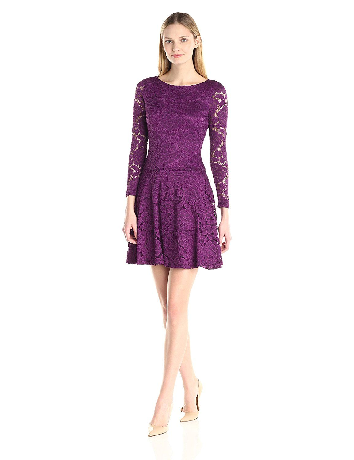 Ivanka Trump Women\'s Long Sleeve Floral Lace Dress >>> Remarkable ...